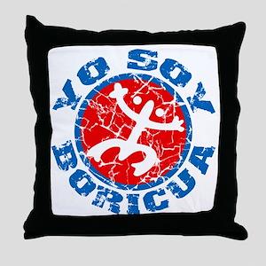 Yo Soy Boricua Blue-Red Throw Pillow