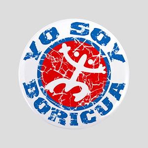 """Yo Soy Boricua Blue-Red 3.5"""" Button"""