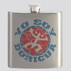 Yo Soy Boricua Blue-Red Flask
