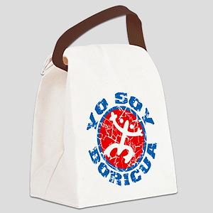 Yo Soy Boricua Blue-Red Canvas Lunch Bag