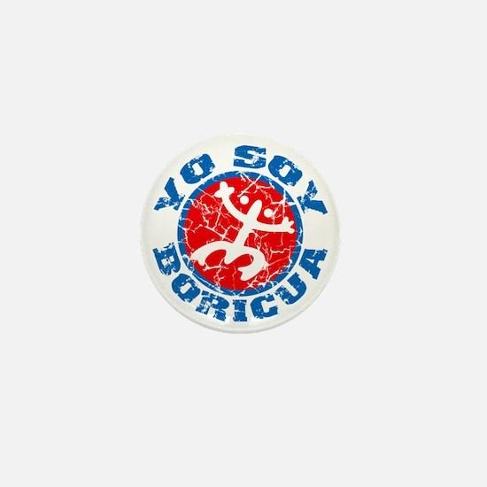 Yo Soy Boricua Blue-Red Mini Button
