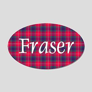 Tartan - Fraser 20x12 Oval Wall Decal