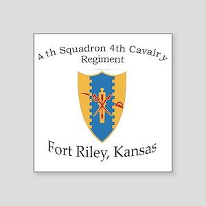 """4th Squadron 4th Cav Square Sticker 3"""" x 3"""""""