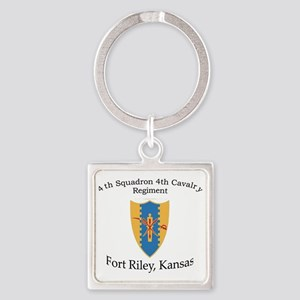 4th Squadron 4th Cav Square Keychain