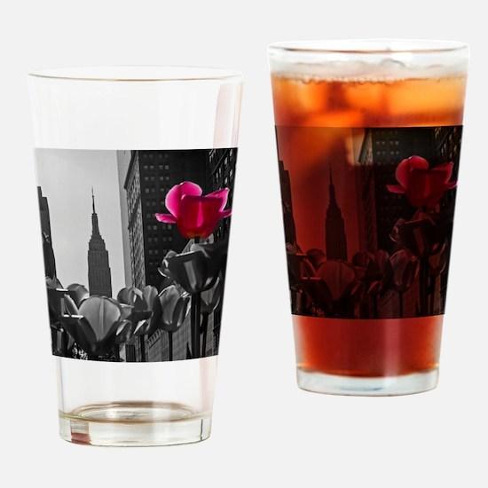 (14) NY Tulips  bw + Drinking Glass