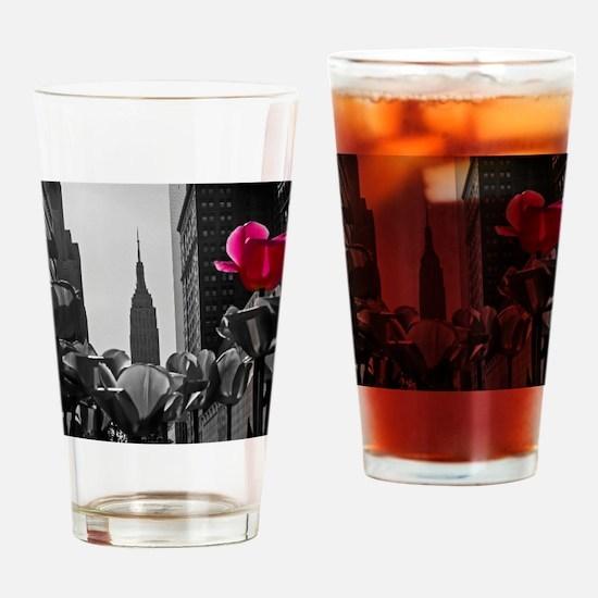 (12) NY Tulips  bw + Drinking Glass