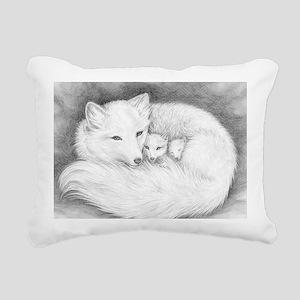 Fox family_Sign Rectangular Canvas Pillow