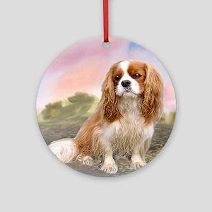 Cavalier_King_Charles_for blanket Round Ornament