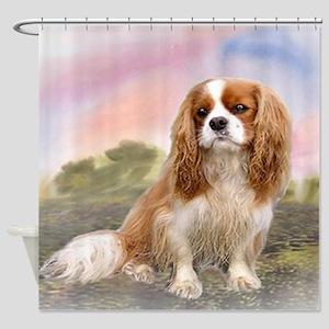 Cavalier_King_Charles_for blanket Shower Curtain