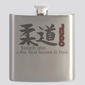 Judo shirt: touch me, first judo lesson free Flask