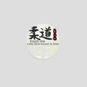Judo shirt: touch me, first judo lesso Mini Button