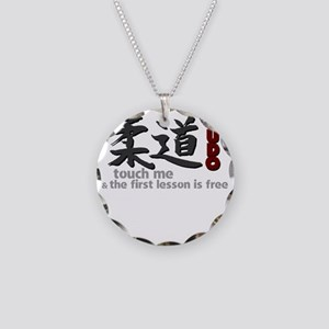 Judo shirt: touch me, first  Necklace Circle Charm