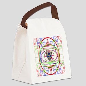 ALIEN TEST PATTERN Canvas Lunch Bag