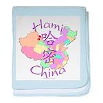 Hami China Map baby blanket