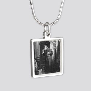 drunkmonk1 Silver Square Necklace