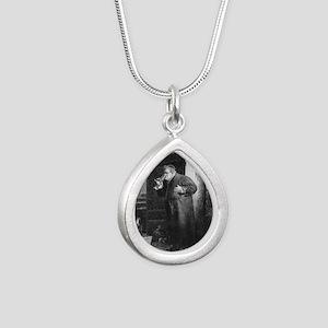 drunkmonk1 Silver Teardrop Necklace