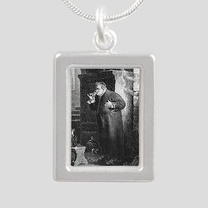 drunkmonk1 Silver Portrait Necklace