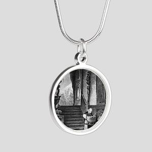 drunkmonk2C Silver Round Necklace