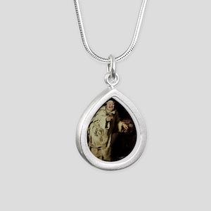 Brooklyn_Museum_-_Monk_T Silver Teardrop Necklace