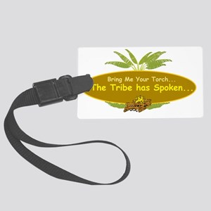 1survivorpalm_tree2 Large Luggage Tag