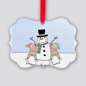 GrandmotherTwinsOgg Picture Ornament