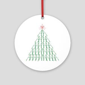 atheistTree Round Ornament