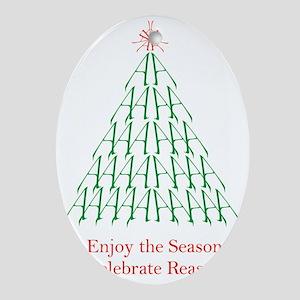 atheistCard Oval Ornament