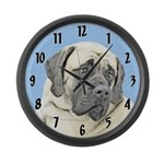 English Mastiff (Fawn) Large Wall Clock