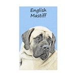 English Mastiff (Fawn) Sticker (Rectangle 50 pk)