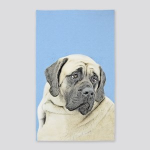 English Mastiff (Fawn) Area Rug
