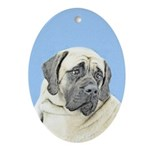 English Mastiff (Fawn) Oval Ornament