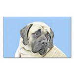 English Mastiff (Fawn) Sticker (Rectangle 10 pk)
