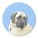 English Mastiff (Fawn) Round Car Magnet