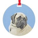 English Mastiff (Fawn) Round Ornament