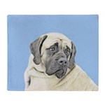 English Mastiff (Fawn) Throw Blanket