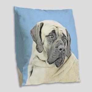 English Mastiff (Fawn) Burlap Throw Pillow