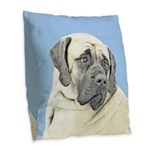 English Mastiff (Fawn) Burlap Throw Pillow