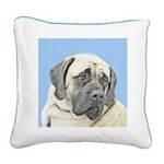 English Mastiff (Fawn) Square Canvas Pillow
