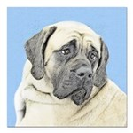 English Mastiff (Fawn) Square Car Magnet 3