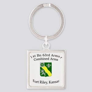 1st Bn 63rd AR Square Keychain