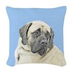 English Mastiff (Fawn) Woven Throw Pillow