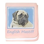 English Mastiff (Fawn) baby blanket