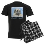 English Mastiff (Fawn) Men's Dark Pajamas