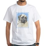 English Mastiff (Fawn) White T-Shirt