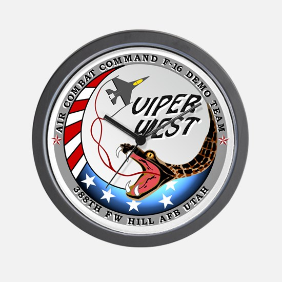 air force west demo team patch Wall Clock