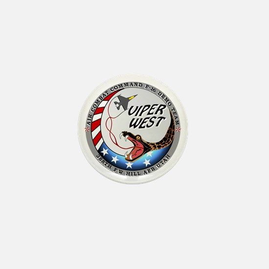 air force west demo team patch Mini Button