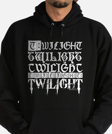 twilight sampler white text Hoodie (dark)