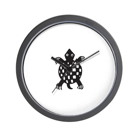 Aztec Turtle Wall Clock