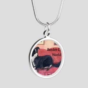 here are my cushions? cover  Silver Round Necklace