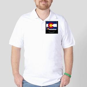 COstateFlagILYbbt Golf Shirt
